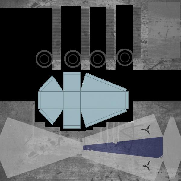 Player ship colour texture map