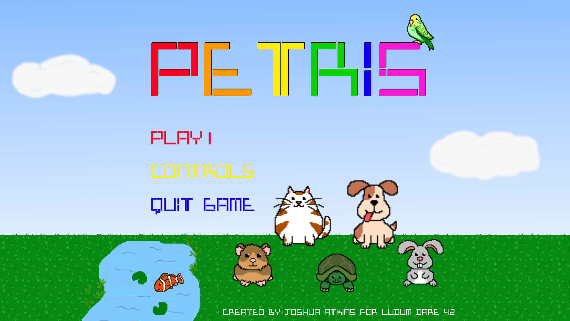 Petris Title Screen